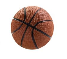 Free Basket Ball Isolated On White Stock Photography - 19430552