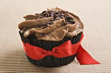 Free Lovely Fresh Chocolate Cupcake Royalty Free Stock Images - 19430569