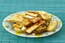 Free Fried Zucchini Royalty Free Stock Photos - 19430968