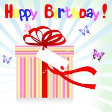 Free Birthday. Stock Images - 19430984