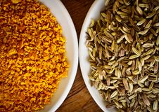 Free Fennel Seeds And Dry Orange Rind Royalty Free Stock Photo - 19431525