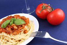 Free Spaghetti Bolognese Stock Image - 19431651