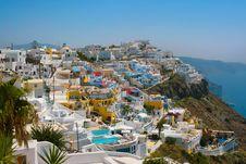 City Of Fira In Santorini Stock Images
