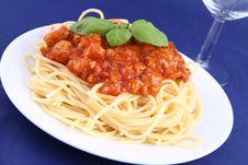 Free Spaghetti Bolognese Royalty Free Stock Image - 19432086