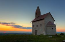 Free Nice Catholic Church In At Sunset. Royalty Free Stock Photo - 19432095