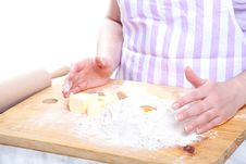 Free Kneading Dough Stock Photo - 19432110