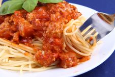 Free Spaghetti Bolognese Royalty Free Stock Images - 19432349