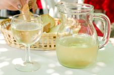 Glass And Bowl Of Wine Stock Photography