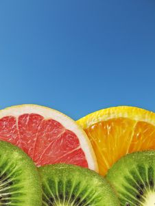 Free Kiwi, Orange, Grapefruit Stock Photo - 19433090