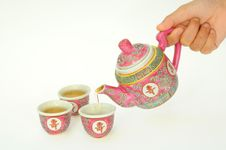 Serving Chinese Tea Royalty Free Stock Photography