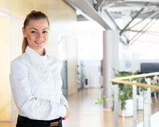 Free Young Pretty Businesswoman Royalty Free Stock Photos - 19434788