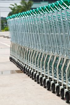 Free Supermarket Shopping Cart Stock Photography - 19435152