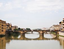 Free Reflection Of Ponte Alle Grazie Bridge Florence Royalty Free Stock Photos - 19435528
