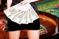 Free Attractive Croupier Stock Photography - 19435542