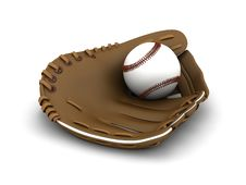 Free Baseball And Glove Royalty Free Stock Image - 19435596