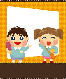 Free Cartoon Kid Card Stock Image - 19435871