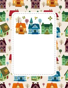 Free Cartoon House Card Royalty Free Stock Image - 19435876