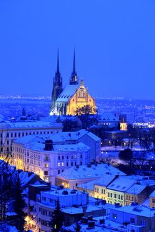 Free Evening Cathedral Stock Photography - 19436302