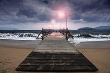 Free Dawn Of The Bridge Royalty Free Stock Photo - 19437195