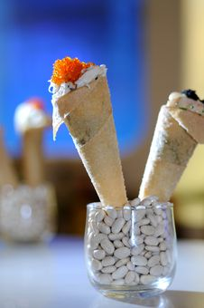 Flying Fish Roe Crepe Stock Images
