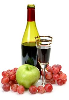 Free Wine And Fruit Royalty Free Stock Photography - 19438147