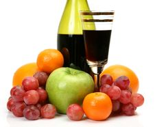 Free Wine And Fruit Royalty Free Stock Photography - 19438157