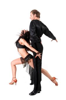 Free Latino Dancers In Action Stock Images - 19438364