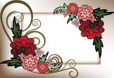 Free Frame Of Red Flowers Stock Photography - 19438592