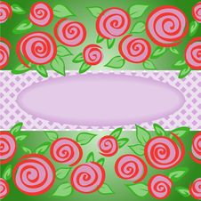 Free Oval Frame With Roses Royalty Free Stock Photography - 19438687