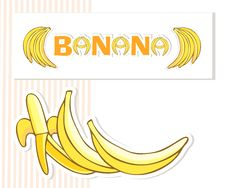 Free Bananas Postcard Royalty Free Stock Photography - 19438997