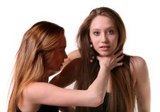 Free Two Young Models Fights. Royalty Free Stock Photo - 19439265