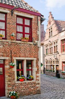 Free A Typical Dutch Street In The Delph. Netherlands Royalty Free Stock Photo - 19439305