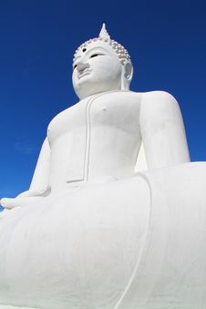 Free The Big White Buddha In Thailand Temple Stock Photography - 19439672