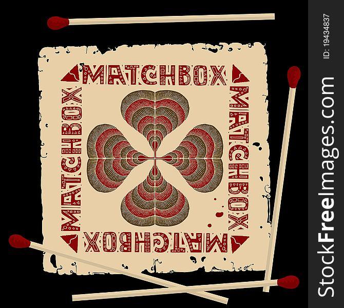 Clover matchbox label
