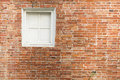 Free Brick With White Window Royalty Free Stock Photo - 19442645