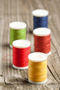 Free Spools Of Colorful Threads Stock Photos - 19442933