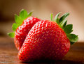Free Strawberries On Wooden Table Royalty Free Stock Photo - 19443595