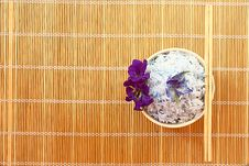 Free Rice Cooked With Blue Butterfly Pea Stock Image - 19440001