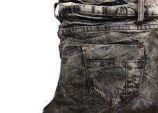 Free Crease Black Jean Texture Stock Photos - 19440863