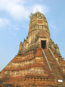 Free Pagoda Chaiwattanaram Temple Royalty Free Stock Photo - 19442905