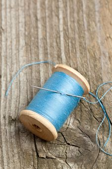 Spool Of Thread And Needle Royalty Free Stock Photography
