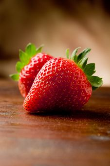 Free Strawberries On Wooden Table Stock Image - 19443551