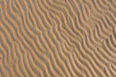 Free Ripples Of The Sand Royalty Free Stock Images - 19443679