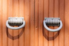Knobs Of The Old Gates. Royalty Free Stock Images