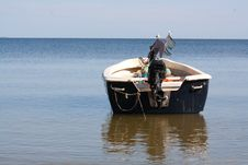 Free Boat At The Beach Stock Photography - 19444532