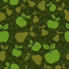 Free Apple Pear Seamless Background Royalty Free Stock Image - 19444556