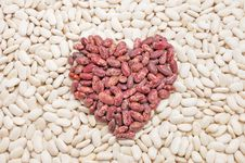 Heart Of The Beans. Royalty Free Stock Photo