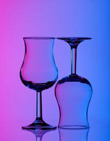 Free Wine Glass Colred Background Purple Blue Stock Photo - 19444770