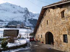 Typical Basque Country Farmhouse Stock Photos