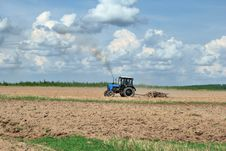 Plow. Plowing The Land. Stock Image